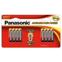 Panasonic Energy of America Alkaline Plus Power AAA Batteries 16-Pack