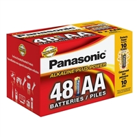 Panasonic Energy of America Alkaline Plus Power AA Batteries 48-Pack