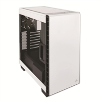 Corsair Carbide Clear 400C Compact Mid-Tower ATX Case - White
