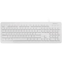 MacAlly Wired USB Keyboard for Mac and PC - White