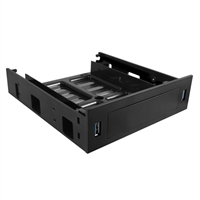 "Vantec HDA-502H Front Panel HDD/SSD Bracket USB 3.0 5.25"" Drive Bay Insert - Black"