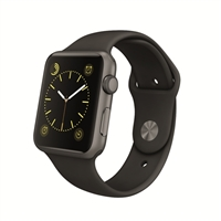 Apple Watch Sport 42mm Space Gray Aluminum Smartwatch - Black Sport Band