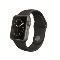 Apple Watch Sport 38mm Space Gray Aluminum Smartwatch - Black Sport Band