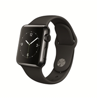 Apple Watch 38mm Space Black Stainless Steel Smartwatch - Black Sport Band
