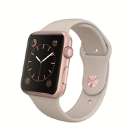 Apple Watch Sport 42mm Rose Gold Aluminum Case - Stone Sport Band