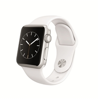Apple Watch Sport 38mm Silver Aluminum Case - White Sport Band