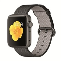Apple Watch Sport 38mm Space Gray Aluminum Smartwatch - Black Woven Nylon Band