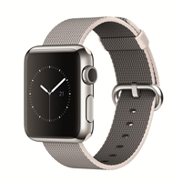 Apple Watch 38mm Stainless Steel Smartwatch - Pearl Woven Band