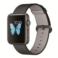 Apple Watch Sport 42mm Space Gray Aluminum Smartwatch - Black Woven Nylon Band