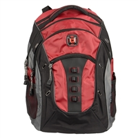 "Swiss Gear Granite Laptop Backpack Fits up to 16"" - Red/Black"