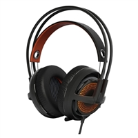 SteelSeries Siberia 350 USB RGB Illuminated 7.1 DTS HeadphoneX Surround Sound PC/Mac Gaming Headset - Black/Orange