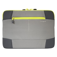 "Targus Bex II Laptop Sleeve Fits up to 14"" - Gray/Spring Yellow"