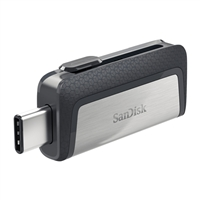 SanDisk 64GB Ultra Dual Drive USB Type-C Flash Drive - Black/Silver