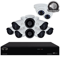 Night Owl 16 Channel Digital Video Recorder DVR and 10 Cameras