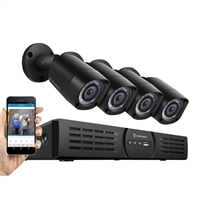 Amcrest 720p 4 Channel DVR with 1TB Hard Drive and 4 Indoor/Outdoor Cameras