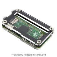 C4Labs Zebra Zero Enclosure for Raspberry Pi Zero - Type 2 Black Ice GPIO