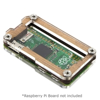 C4Labs Zebra Zero Enclosure for Raspberry Pi Zero - Type 2 Wood GPIO