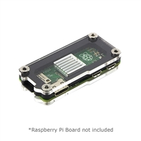 C4Labs Zebra Zero Enclosure for Raspberry Pi Zero - Type 2 Black Ice with Heatsink