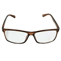 HornetTek Anti Blue Light Computer Glasses with Pouch and Cloth Brown Frame