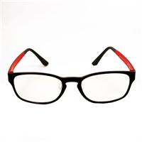 HornetTek Anti Blue Light Computer Glasses with Pouch and Cloth Red Frame