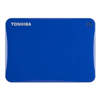 Toshiba Canvio Connect II 1TB Portable Hard Drive - Blue
