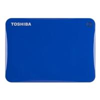 Toshiba Canvio Connect II 1TB Portable Hard Drive - Blue