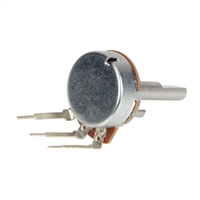 NTE Electronics 24mm Potentiometer 1Mohm 1/4W - 2 Pack
