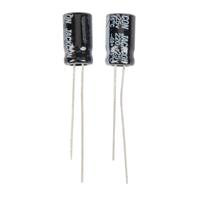 NTE Electronics Aluminum Electrolytic 25V 2200uF Radial Lead Capacitor - 2 Pack