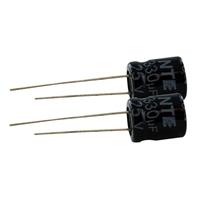NTE Electronics Aluminum Electrolytic 25V 330uF Radial Lead Capacitor - 2 Pack
