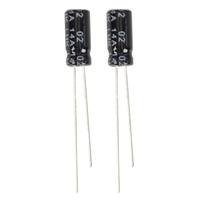 NTE Electronics Aluminum Electrolytic 0.1uf 50V Capacitor - 2 Pack