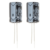 NTE Electronics Aluminum Electrolytic 1000uf 35V Capacitor - 2 Pack