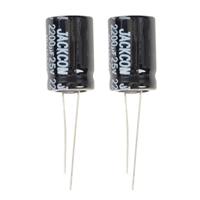 NTE Electronics Aluminum Electrolytic 2200uf 25V Capacitor - 2 Pack