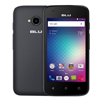 BLU Dash L2, 512MB RAM/4GB Storage, Black, Unlocked GSM Smartphone