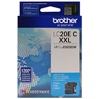 Brother LC20EC XXL Super High Yield Cyan Ink Cartridge