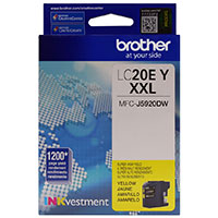 Brother LC20EY XXL Super High Yield Yellow Ink Cartridge