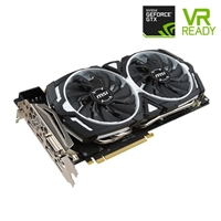 MSI GeForce GTX 1080 Armor Overclocked Dual-Fan 8GB GDDR5X PCIe Video Card