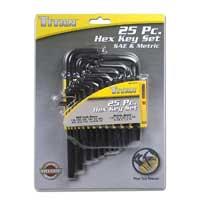 Titan Tools Hex Key Set - 25 Piece