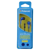 Polaroid PH783 Noise Isolating Earbuds w/ In-line Mic - Blue