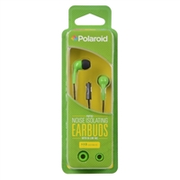 Polaroid PH783 Noise Isolating Earbuds w/ In-line Mic - Green