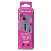 Polaroid PH783 Noise Isolating Earbuds w/ In-line Mic - Pink