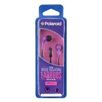 Polaroid PH783 Noise Isolating Earbuds w/ In-line Mic - Purple