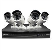 Swann Communications 8 Channel NVR with 4 Indoor/Outdoor HD Cameras