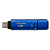 Kingston Data Traveler 32GB USB 3.0 Drive - 256bit AES Encrypted w/ ESET Antivirus