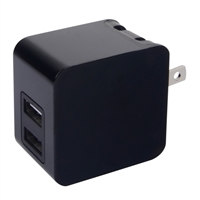iEssentials 3.4 Amp Dual USB Wall Charger Black