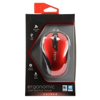 iHome Ergonomic USB Desktop Mouse - Red