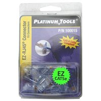 Platinum Tools Solid/Stranded Modular Connectors for Network Cables 15 Pack