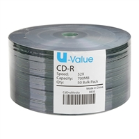 U Value CD-R 50 Pack