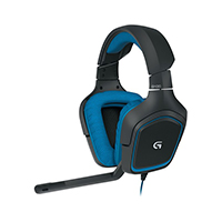Logitech G430 USB 7.1 Dolby Surround Sound Gaming Headset Refurbished - Black/Blue