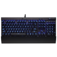Corsair K70 LUX Mechanical Keyboard, Backlit Blue LED, Cherry MX Red