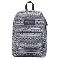 "Jansport Digibreak Laptop Backpack Fits Screens up to 15"" - Black/White Jazzy Geo"